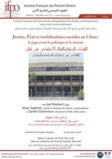 Affiche du séminaire du 15 janvier 2013