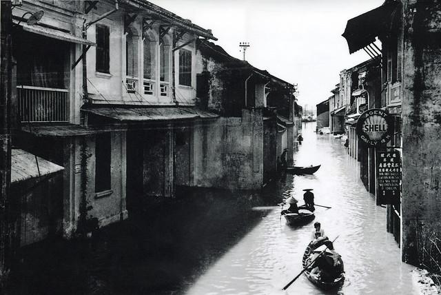 Trận lụt năm 1950 – Đường Nguyễn Thái Học, Hội An