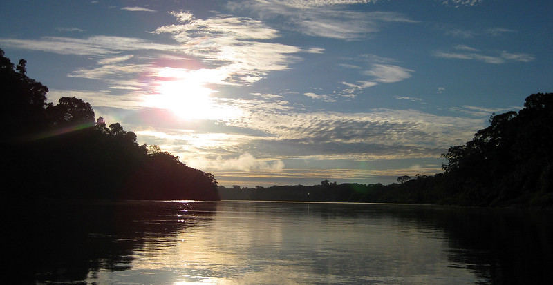 The Tambopata River in the early morning