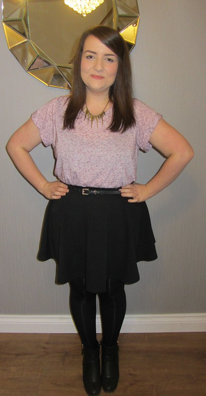 topshop t-shirt, new look skirt,