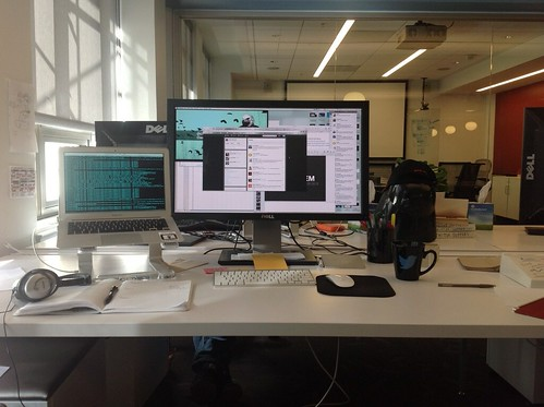 My desk at Twitter