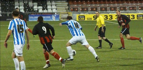 Simon Grayson playing for Huddersfield Town