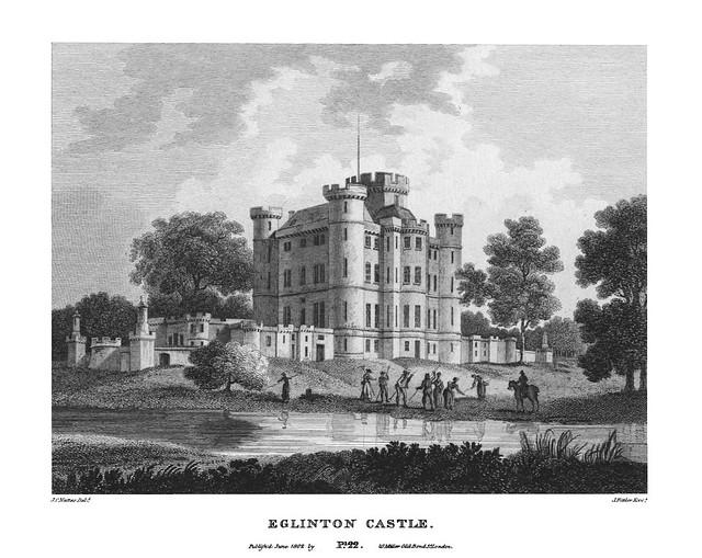 etching: Eglinton Castle