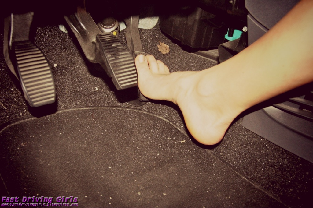Pedal Pumping Flooring : Fast driving girls sexy and