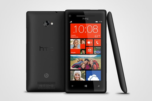 WP 8X by HTC Graphite Black 3views