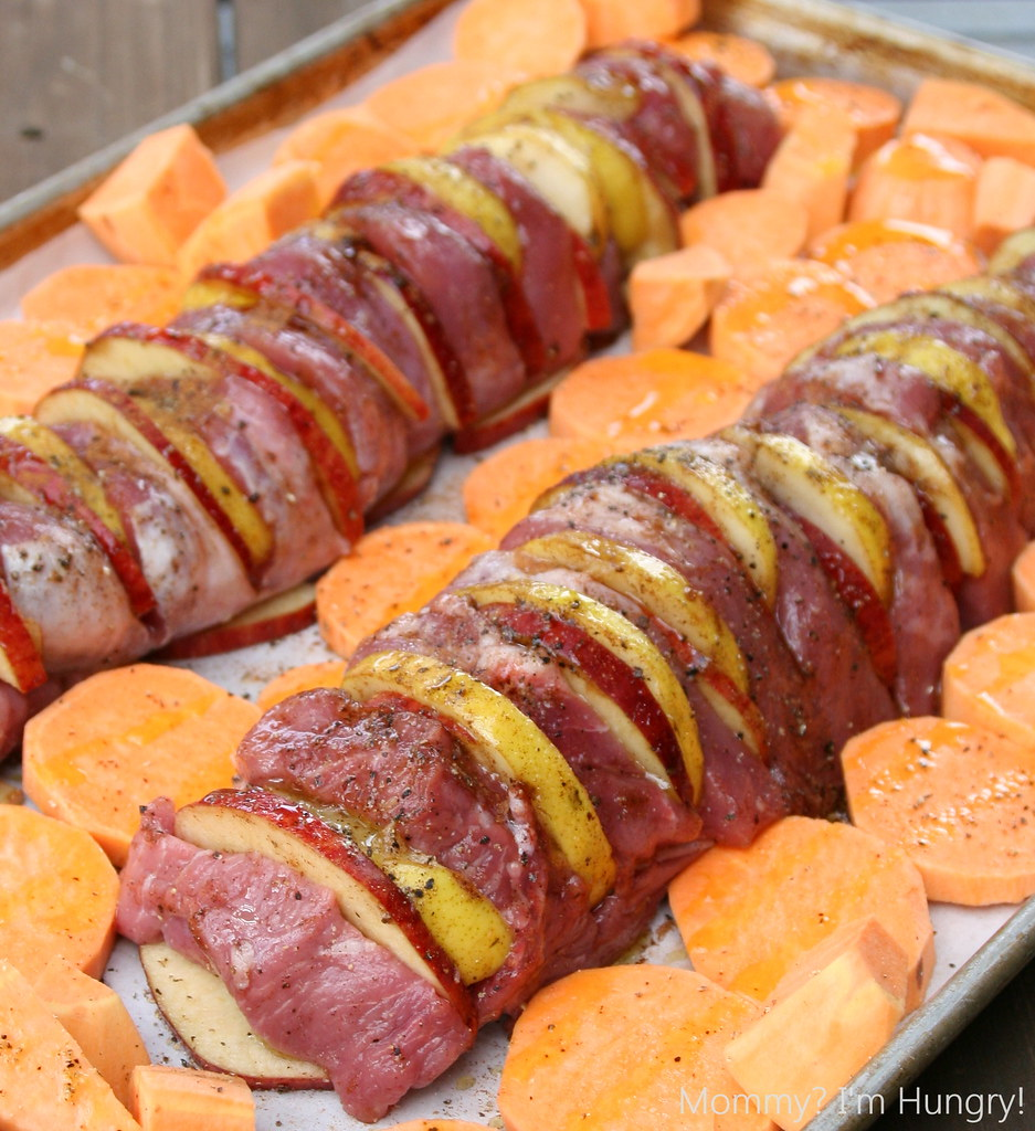 Apple and Pear Stuffed Pork Tenderloin