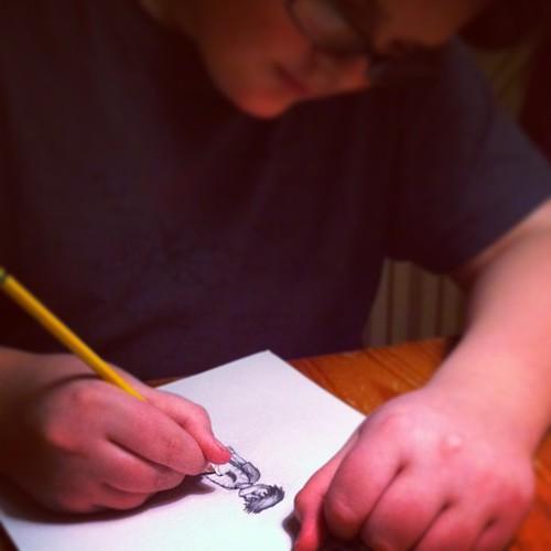 an artist #unschooling