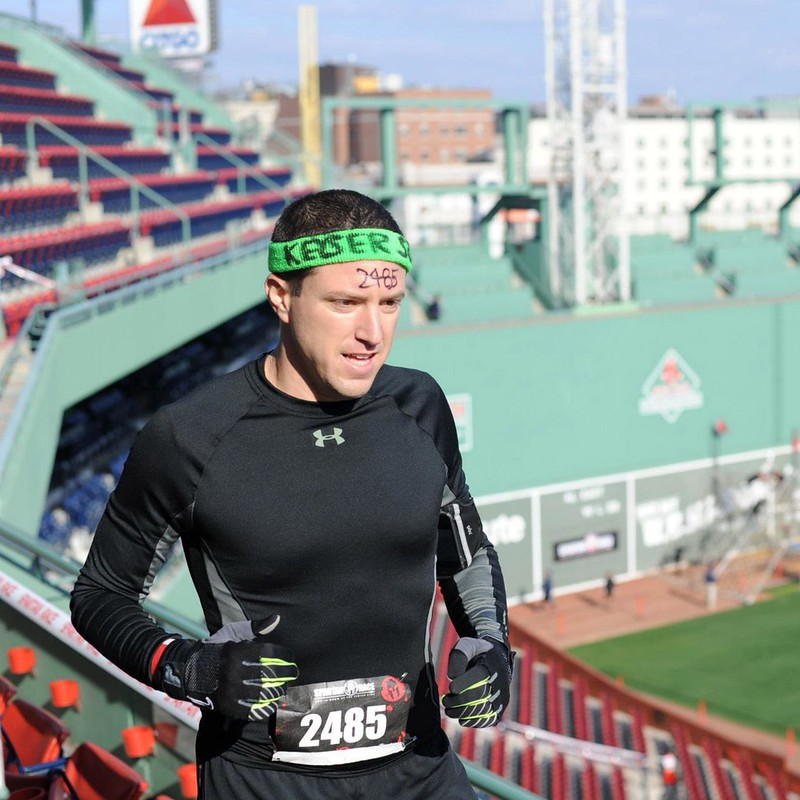 Yoav Shapira racing in the Fenway Park Spartan Sprint, October 2012.