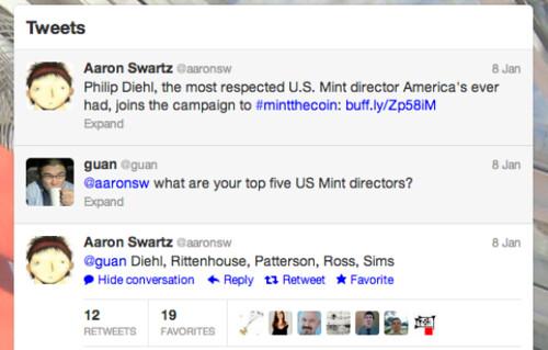 Aaron Swartz Mint Directors
