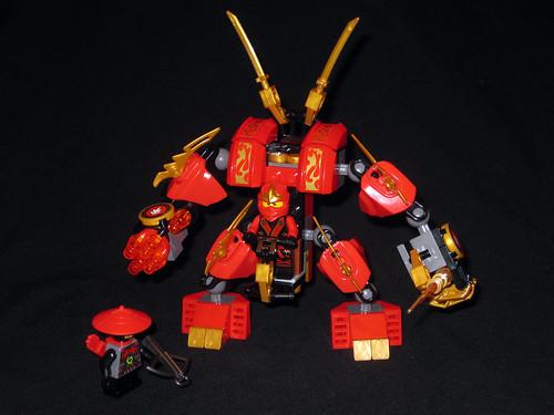 70500 Kai's Fire Mech + Minifigs