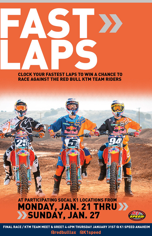 8402440689 baf24229d8 c Red Bull KTM Supercross Race & Meet and Greet at K1 Speed!