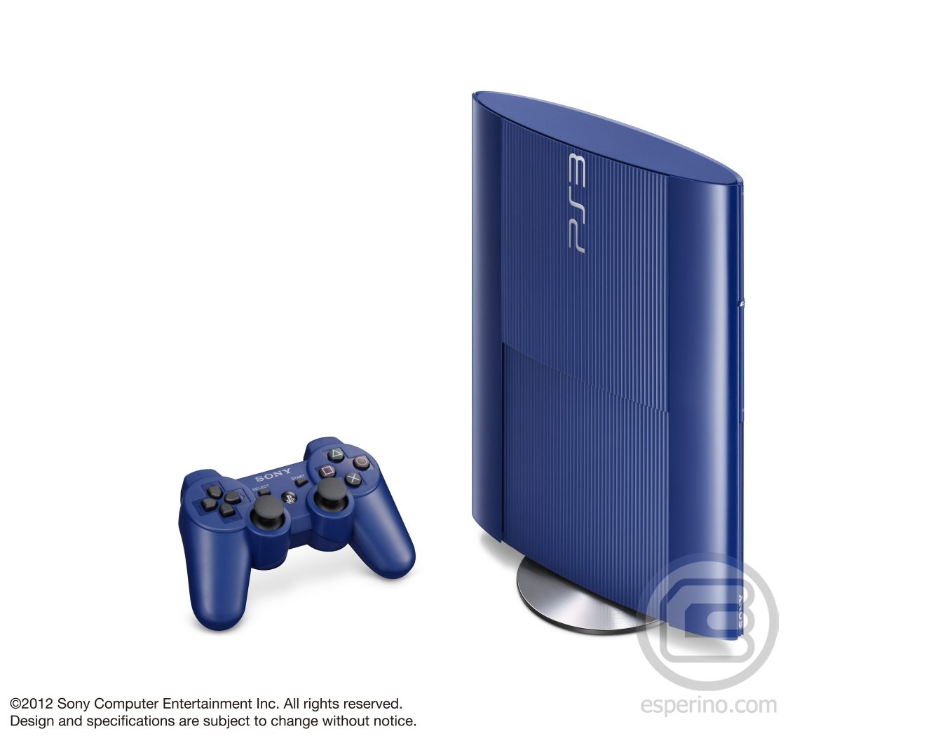 PS3 Super Slim Blue 3