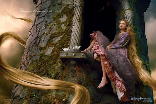 Taylor Swift as Rapunzel.