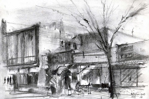 Chahar Bagh Boulevard  (8) by Behzad Bagheri Sketches