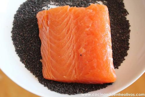 Tataki de salmon en nido de nabo daikon (8)