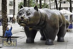 Gato de Botero, Rambla del Raval