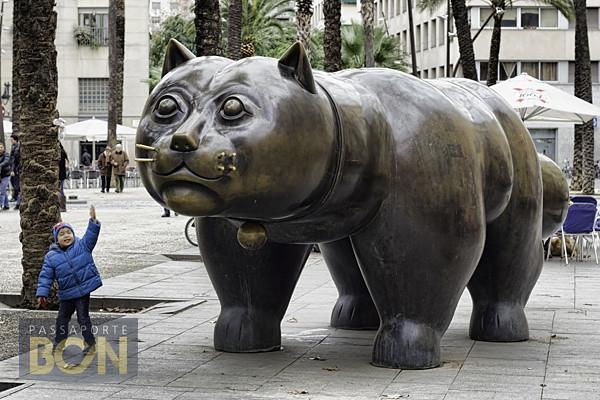gato de Botero, El Raval