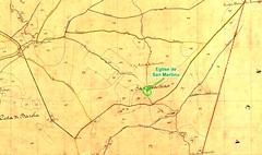 Extrait du Cadastre Napoléonien pour le secteur San Martinu du Haut-Cavu