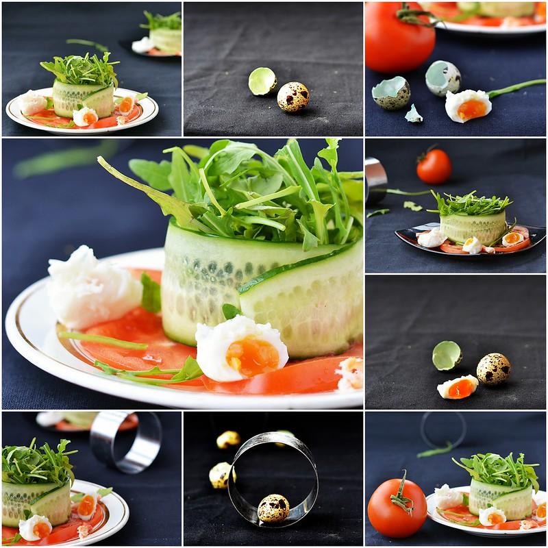 коллаж крабовый салат