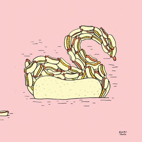 HOTDOG SWAN by Ohara.Hale