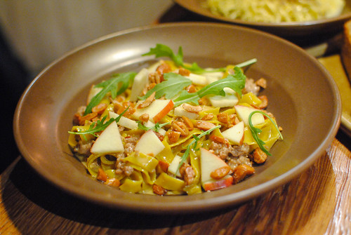TAGLIATELLE, PORK BOLOGNESE, APPLES, ALMONDS