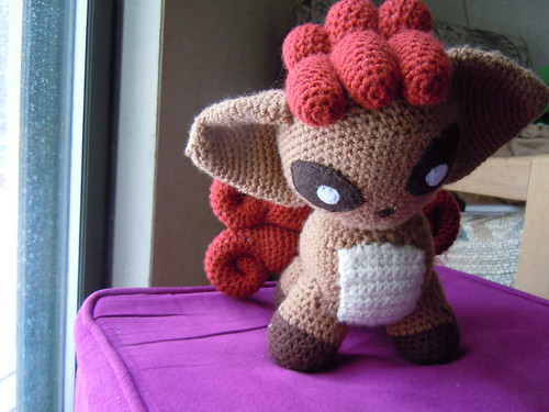 Vulpix Pokedoll Front View (2) by crookedcrafts