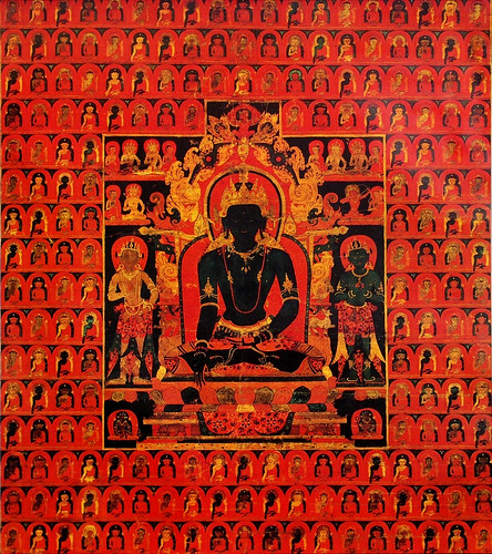 019-The Dhyani Buddha Akshobhya, Tibetan thangka, late 13th century, Honolulu Academy of Arts