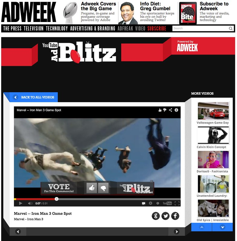 Voting works on Google Chrome Super Bowl 2013 | Adweek