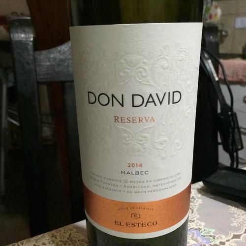 Puerto Iguazu: vin rouge Don David, Malbec. Très bon mais nous avons préféré le Cabernet Sauvignon !