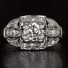Art Deco .61 ctw old mine cut diamond ring available @vintagjewelry www.vintagjewelry.com #decojewelry #diamond #diamondforever #ring #14k #vintage  #vintagejewelry #antiquejewelry #jewelry  #giftcertificates  #jewelrygram  #international #alluremagazine