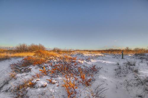 sky snow beach nature landscape denmark photo sand pentax snowfall dänemark sne frederikshavn kx landskab kattegat vejr nordjylland havtorn natfoto vendsyssel pervisti