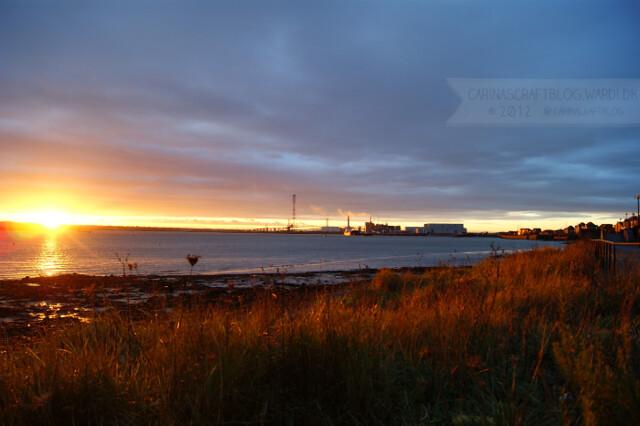 Sunset, December 7 2012 - 2
