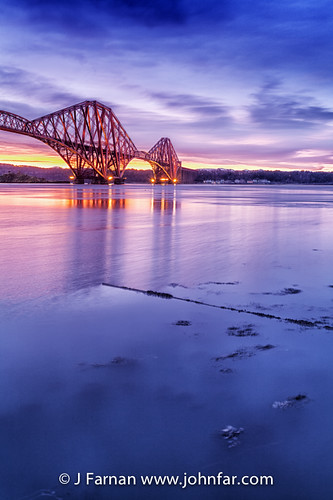 sunrise dawn scotland edinburgh scottish eastcoast forthbridge riverforth northqueensferry forthrailbridge forthestuary edinburghmorning