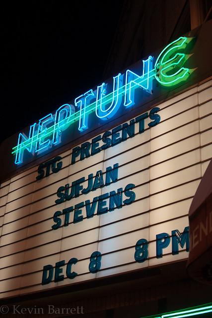 Sufjan Stevens at the Neptune Theatre