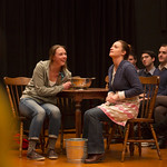 Therese Plaehn and Stacy Fischer in the Huntington Theatre Company's production of Thornton Wilder's OUR TOWN. Dec. 7, 2012 – Jan. 13, 2013 at the Calderwood Pavilion / South End. huntingtontheatre.org. Photo: T. Charles Erickson
