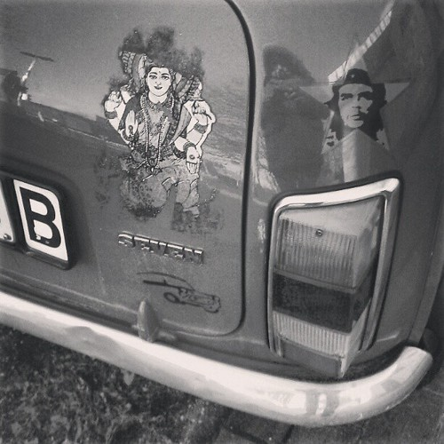 che was buddha #sticker #minicooper #b/w