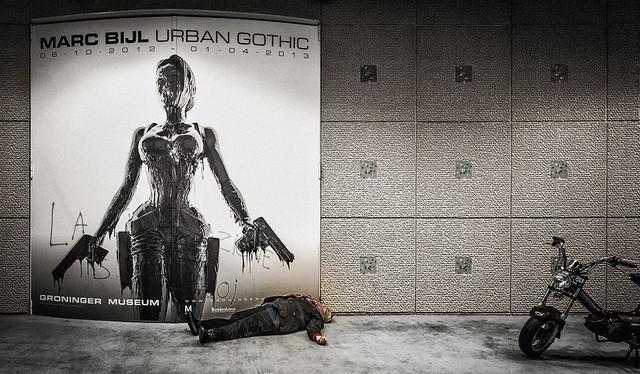 Urban crime scene