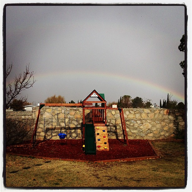 Best part of living in the desert? Rainbows are sure to follow every raindrop!