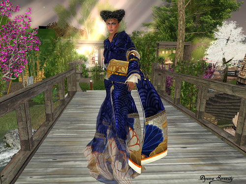 Paris METRO Couture: Kimono Flower Water Gown by Dyana Serenity