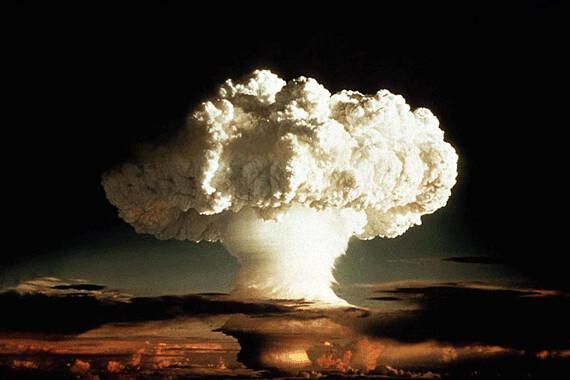 Nuclear Explosion- Hydrogen Bomb Mushroom Cloud