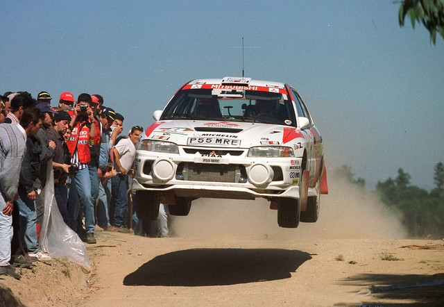 Mitsubishi Lancer Evo 4 of Richard Burns at 1998 Rally Portugal