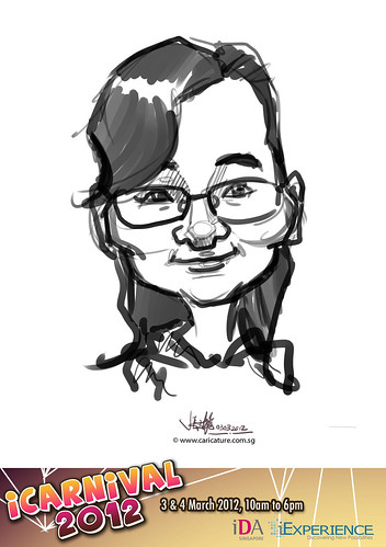 digital live caricature for iCarnival 2012  (IDA) - Day 1 - 32