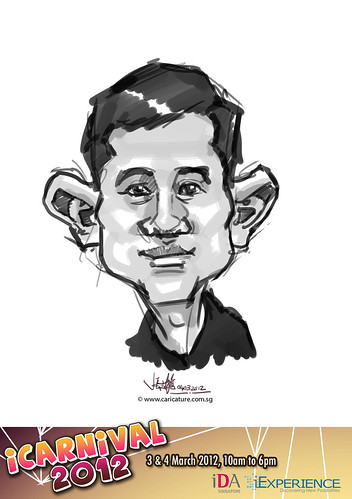 digital live caricature for iCarnival 2012  (IDA) - Day 2 - 75