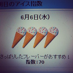 lol they even have an ice cream index