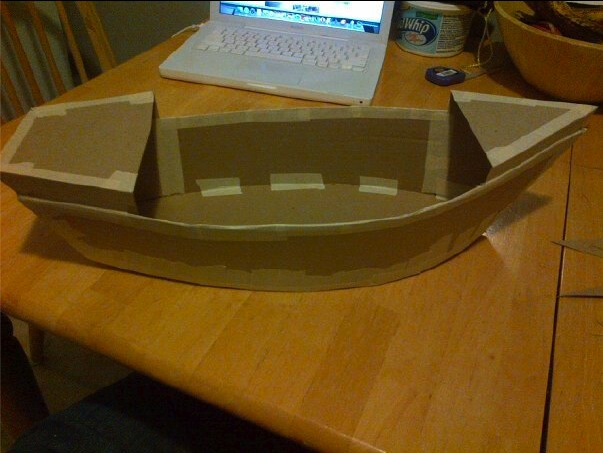 Cardboard Pirate Ship 1