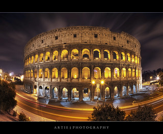 The Night Lights of the Colosseum. Rome, Italy :: HDR