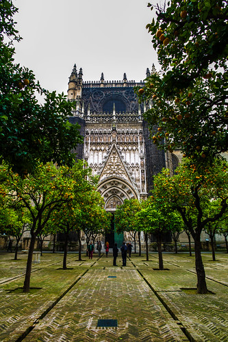 Courtyard of the oranges, Seville Cathedral