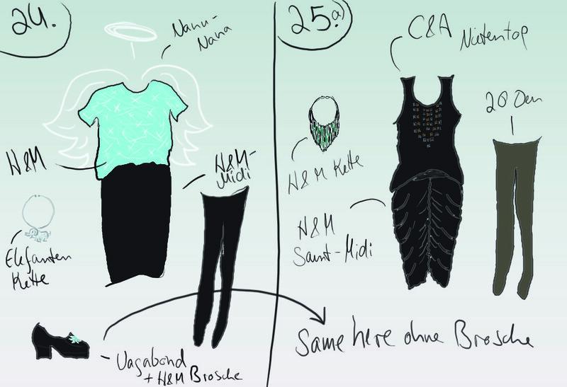 Outfits 24. und 25.12