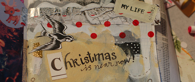 Christmas Feeling Art Journaling