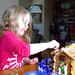 izzy making a gingerbread house